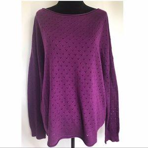 *VINCE CAMUTO* Purple Heart Knit Sweater